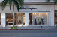 Salvatore Ferragamo Store Royalty Free Stock Photo