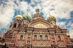 Salvatore su sangue San Pietroburgo Fotografie Stock