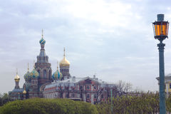 Salvatore sul tempiale di anima, St Petersburg, Russia Fotografia Stock