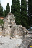 Salvatori di San di rovina della chiesa Immagini Stock