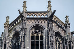 Salvatorkerk in Duisburg - Duitsland Stock Foto
