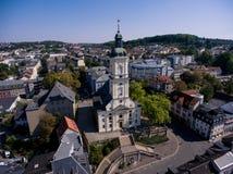 Salvatorkirche Gera church salvator aerial view Royalty Free Stock Photography