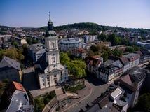 Salvatorkirche Gera church salvator aerial view Stock Photography