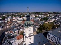 Salvatorkirche Gera church salvator aerial view Royalty Free Stock Photo
