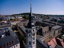 Salvatorkirche Gera church salvator aerial view Stock Image