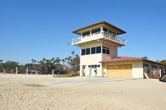 Salvavidas Building de la playa de estado de Doheny Imagen de archivo libre de regalías