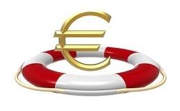 Salvavidas con la muestra euro stock de ilustración