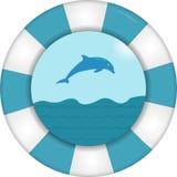 Salvavidas con la opinión del mar libre illustration