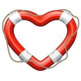 Salvavidas del corazón EPS 10 Fotografía de archivo libre de regalías