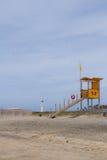 Salvavidas en la playa Imagen de archivo