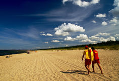 Salvavidas en la playa Fotos de archivo