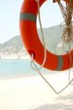 Salvavita ad una spiaggia Fotografie Stock Libere da Diritti