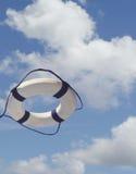 Salvavita in mid-air fotografie stock