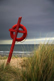 Salvavita sulla spiaggia Immagine Stock