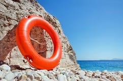 Salvavita sulla spiaggia Fotografie Stock