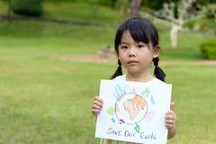 Salve el planeta Foto de archivo libre de regalías