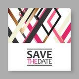 Salve la tarjeta de fecha Fotografía de archivo