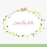Salve la tarjeta de fecha Imagen de archivo