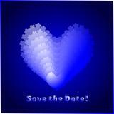 Salve la tarjeta de fecha Imagen de archivo libre de regalías