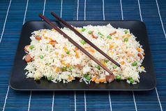 Salver of rice fried Royalty Free Stock Photos