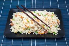 Salver of rice fried Royalty Free Stock Photos
