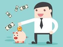 Salvi il tempo di fare i soldi essere risultato Fotografia Stock Libera da Diritti