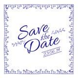 Salvi la scheda di data Illustrazione di vettore Fotografie Stock Libere da Diritti