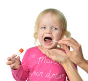 Salvia medical sample biological specimen from child baby kid mo royalty free stock images
