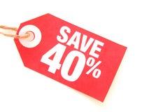 Salvo 40% Immagine Stock Libera da Diritti