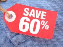 Salvo 60% Fotografia Stock Libera da Diritti
