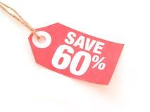 Salvo 60% Immagine Stock Libera da Diritti