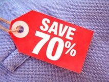 Salvo 70% Fotografia Stock Libera da Diritti