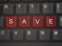 SALVO i tasti sulla tastiera di calcolatore Fotografia Stock Libera da Diritti