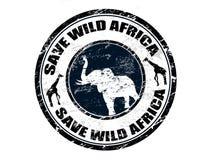 Salvo il bollo selvaggio dell'Africa Fotografia Stock Libera da Diritti