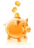 Salvo il concetto dei soldi con la banca piggy Immagini Stock