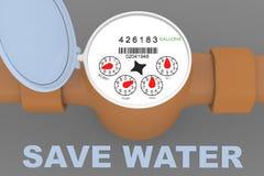 Salvo il concetto dell'acqua illustrazione di stock