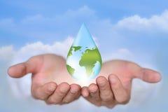 Salvo il concetto dell'acqua della terra Fotografia Stock Libera da Diritti