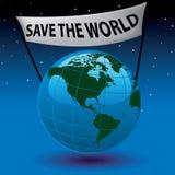 Salvo il mondo Immagini Stock Libere da Diritti