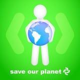 Salvo il nostro pianeta Fotografia Stock