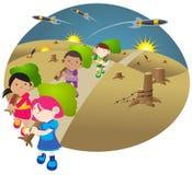 Salvo il nostro pianeta   Fotografia Stock Libera da Diritti