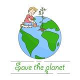 Salvo il pianeta Immagine Stock