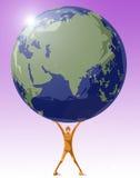 Salvo il vostro pianeta Fotografia Stock