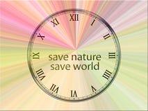 Salvo la natura - salvo il mondo Immagini Stock
