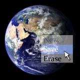 Salvo la terra Immagini Stock