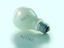 Salvo per la pensione Immagine Stock