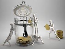 Salvo soldi illustrazione vettoriale