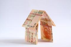 Salvo soldi da costruire a casa Immagini Stock
