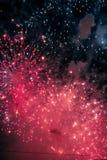 Salwa świąteczni fajerwerki Zdjęcia Stock