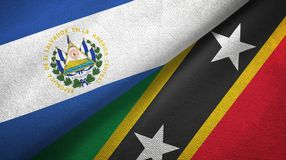 Salwador, święty i dwa flagi tekstylny płótno, tkaniny tekstura ilustracja wektor