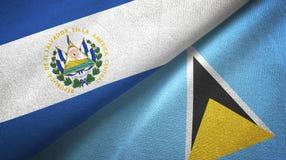 Salwador Lucia i święty dwa flagi tekstylny płótno, tkaniny tekstura ilustracji